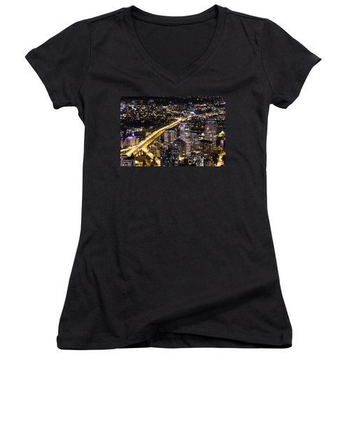 Golden Artery - Mcdxxviii By Amyn Nasser Women's V-Neck (Athletic Fit)