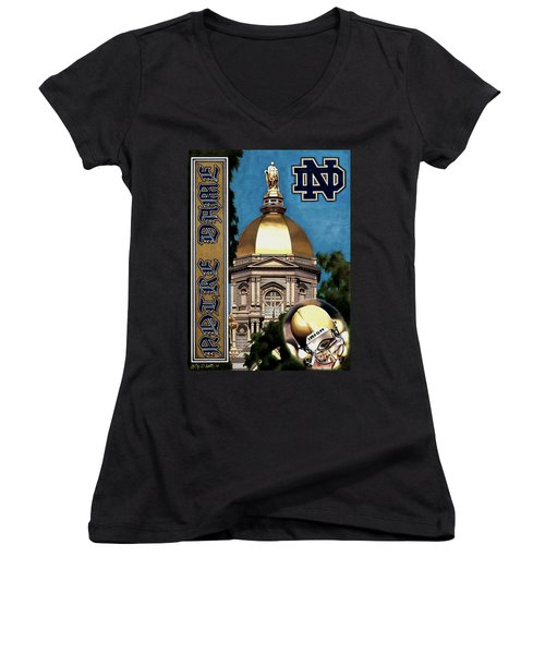 Golden Dome Women's V-Neck T-Shirt