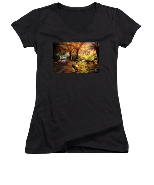 Golden Forest Women's V-Neck