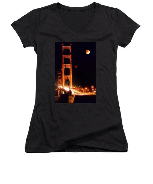 Golden Gate Night Women's V-Neck