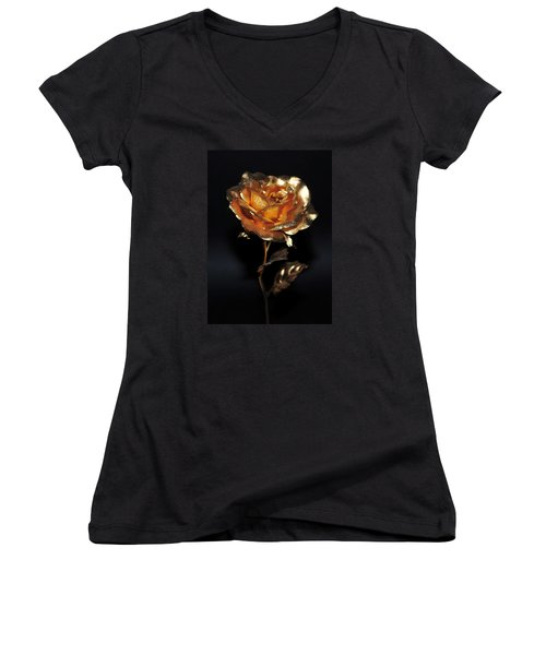 Golden Rose Women's V-Neck