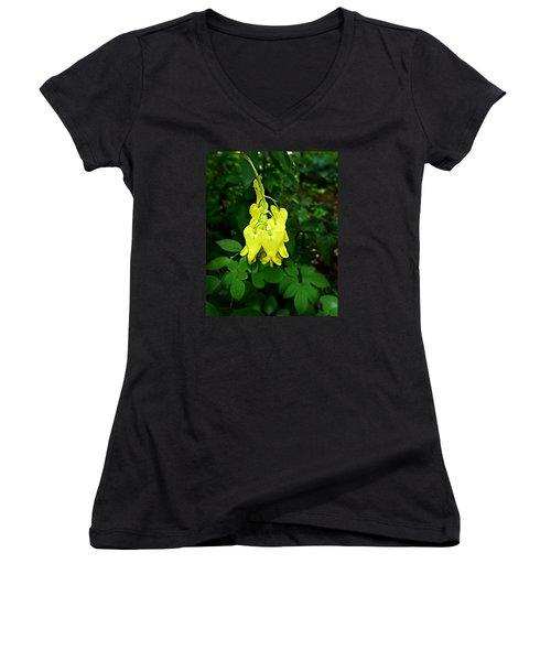 Golden Tears Vine Women's V-Neck T-Shirt (Junior Cut)