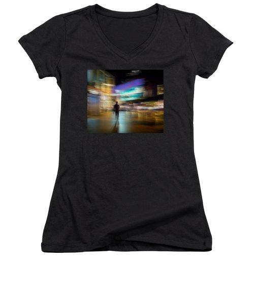 Women's V-Neck T-Shirt (Junior Cut) featuring the photograph Golden Temptations by Alex Lapidus