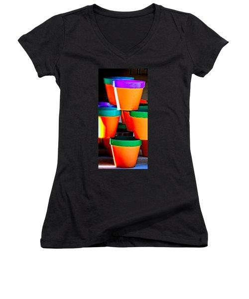 Gone Potty Women's V-Neck T-Shirt