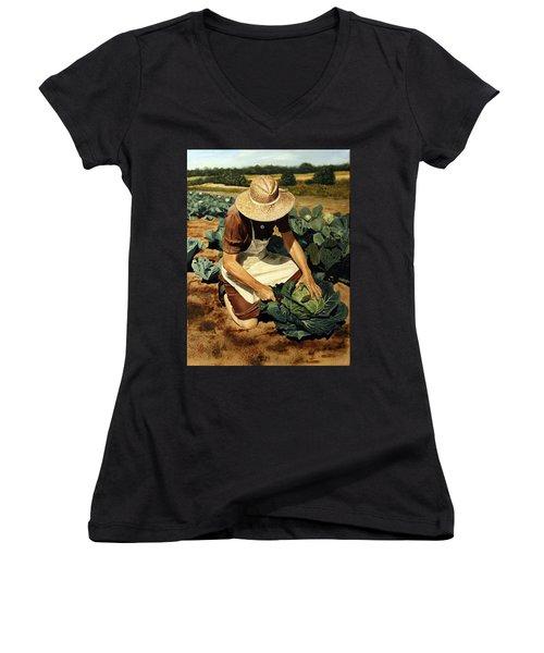 Good Harvest Women's V-Neck T-Shirt