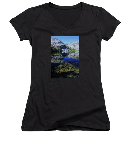Good Morning Eagle Lake Women's V-Neck T-Shirt