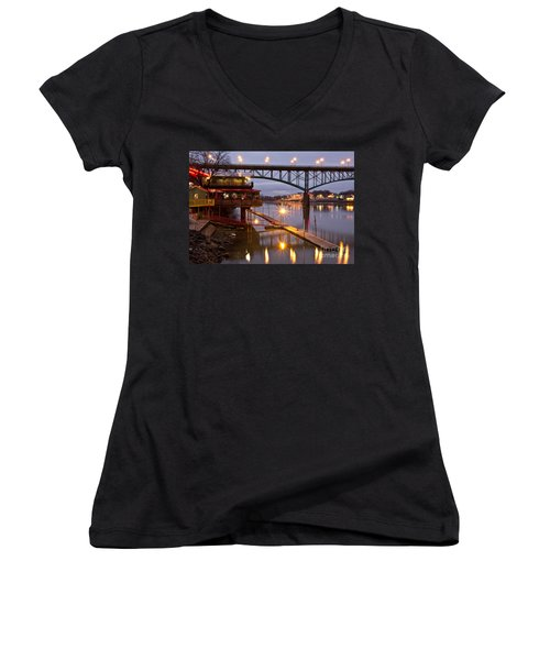 Good Morning Knoxville Women's V-Neck (Athletic Fit)