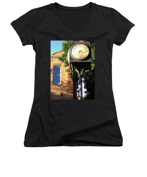 Women's V-Neck T-Shirt (Junior Cut) featuring the photograph Good Morning Sunshine by Natalie Ortiz