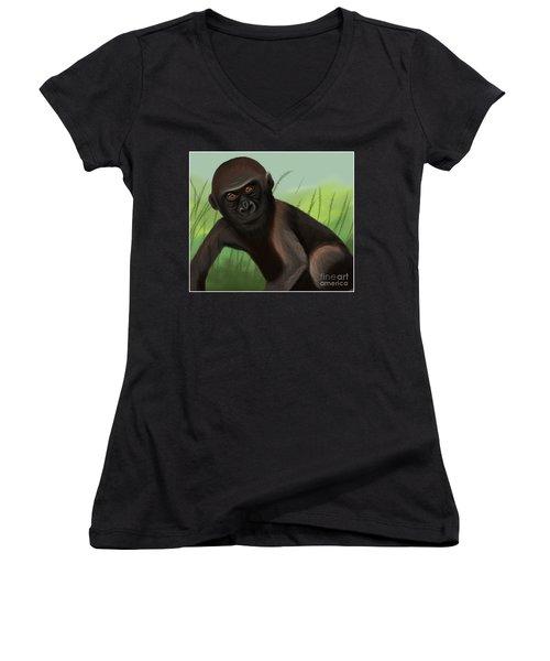 Gorilla Greatness Women's V-Neck