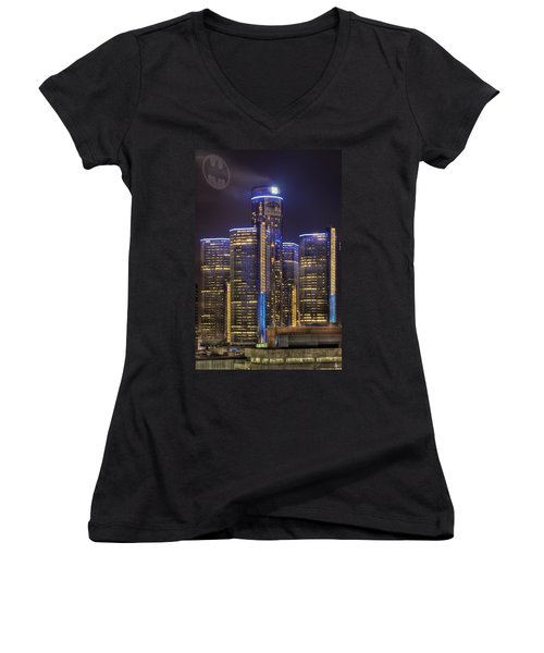 Gotham Detroit Women's V-Neck (Athletic Fit)