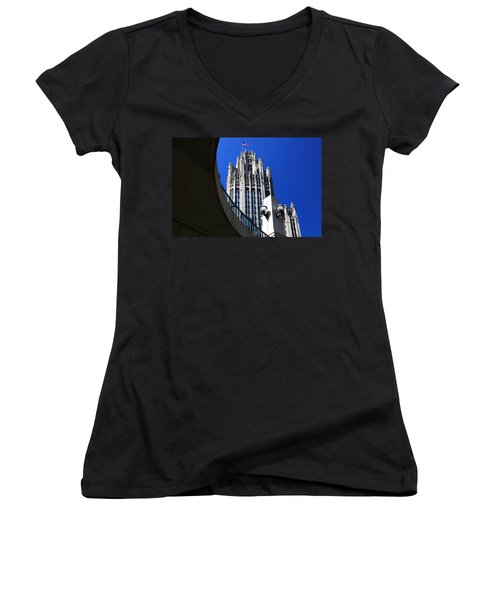 Gothic Tribune Tower Curve Women's V-Neck