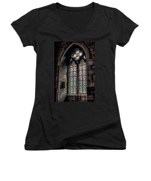 Gothic Window Women's V-Neck