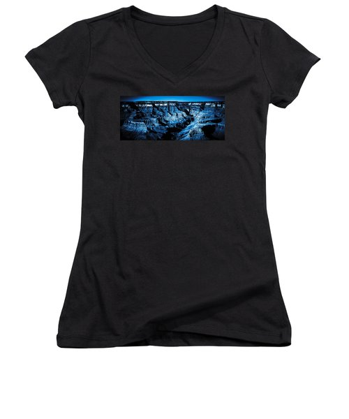 Grand Canyon In Blue Women's V-Neck T-Shirt
