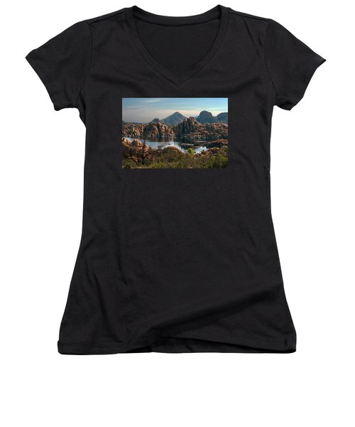 Granite Dells At Watson Lake Women's V-Neck (Athletic Fit)