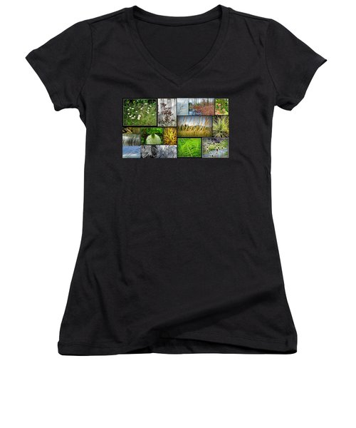 Grass Collage Variety Women's V-Neck (Athletic Fit)