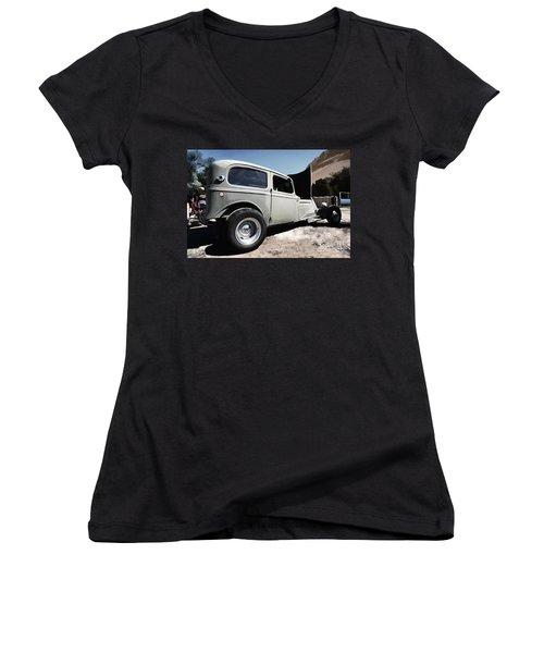 Greaserama 2011 Women's V-Neck T-Shirt (Junior Cut) by Liane Wright