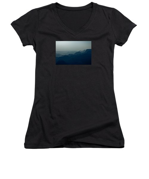 Women's V-Neck T-Shirt (Junior Cut) featuring the photograph Great Crevice by Joel Loftus