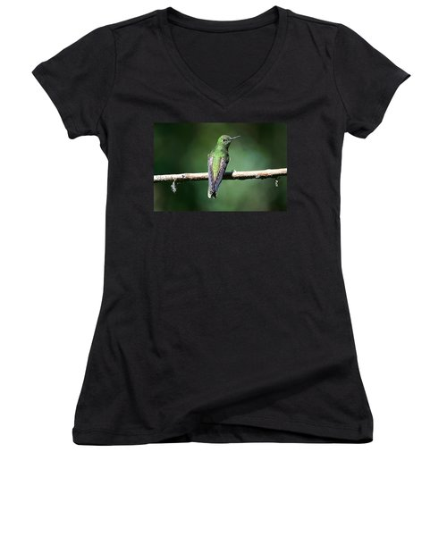 Green Glow Women's V-Neck (Athletic Fit)