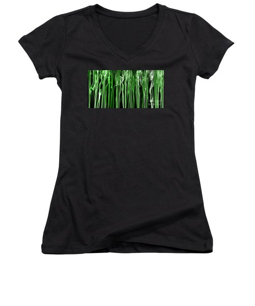 Green Grass Smoke Photography Women's V-Neck (Athletic Fit)