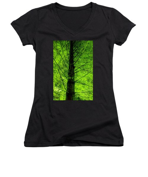 Green On Green Women's V-Neck