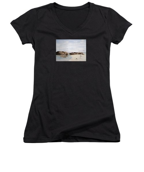 Greens Pool Western Australia Women's V-Neck T-Shirt
