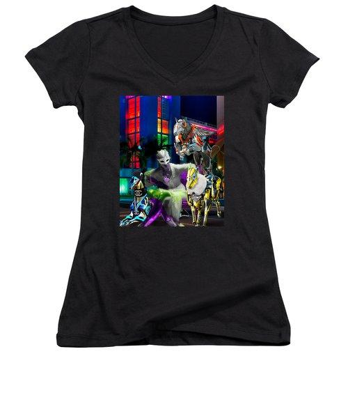 Greyhound Princesse Women's V-Neck T-Shirt