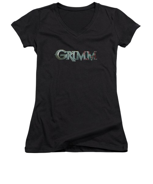 Grimm - Bloody Logo Women's V-Neck (Athletic Fit)