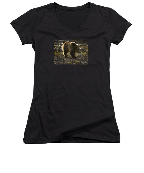 Grizzly Bear-signed-#4429 Women's V-Neck (Athletic Fit)