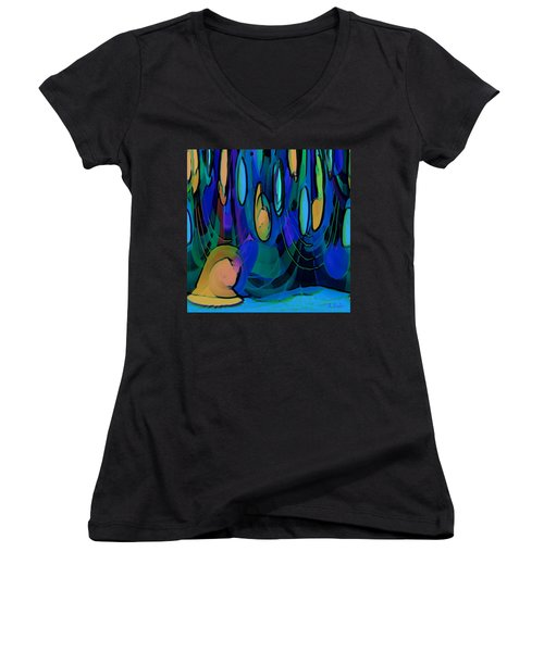 Grow Where You Are Planted Women's V-Neck T-Shirt (Junior Cut) by Alec Drake
