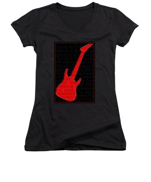 Guitar Players 1 Women's V-Neck T-Shirt (Junior Cut)