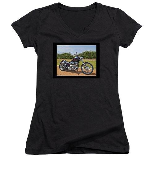 H-d_b Women's V-Neck T-Shirt