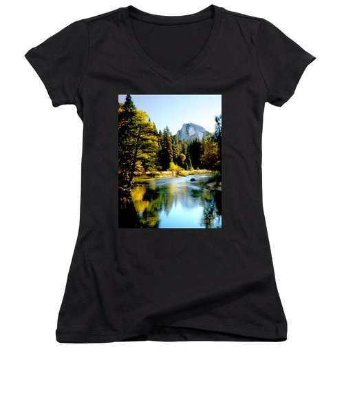 Half Dome Yosemite River Valley Women's V-Neck