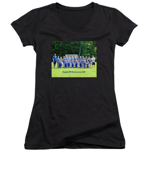 Hampton U15 Girls 2013 Women's V-Neck T-Shirt