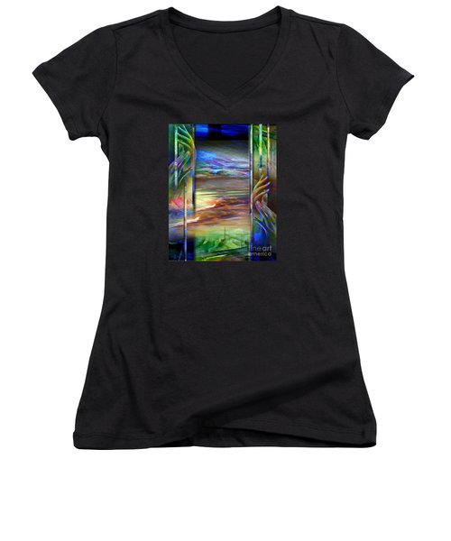 Hands-prisoned Women's V-Neck T-Shirt (Junior Cut)