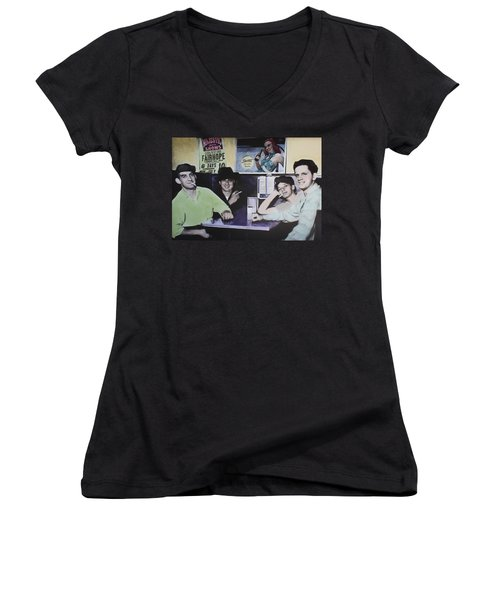 Hanging At The Diner 1949 Women's V-Neck