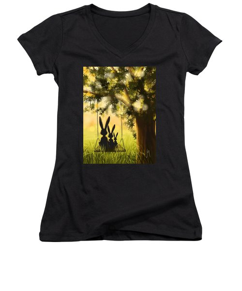 Happily Together Women's V-Neck T-Shirt