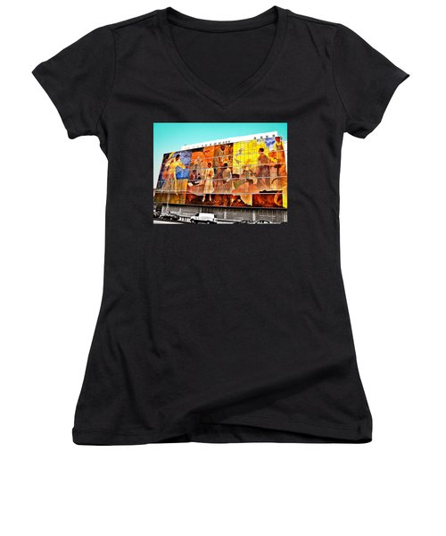 Harlem Hospital Mural Women's V-Neck T-Shirt
