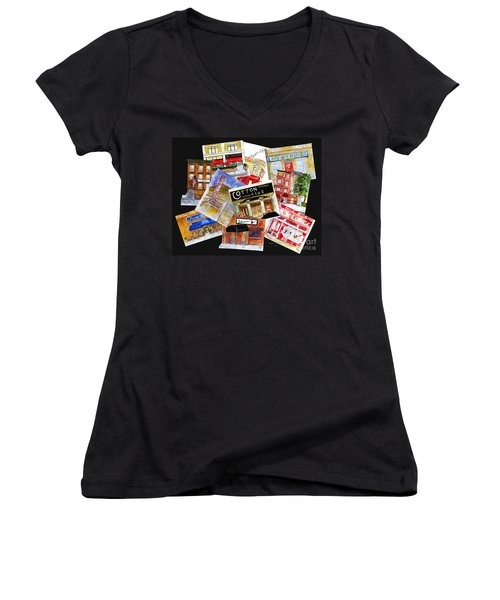Harlem Jazz Clubs Women's V-Neck (Athletic Fit)