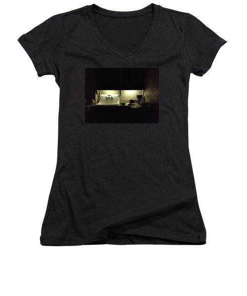 Harlem Sink Women's V-Neck T-Shirt (Junior Cut) by H James Hoff