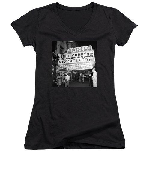 Harlem's Apollo Theater Women's V-Neck T-Shirt