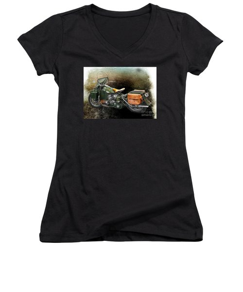 Harley Davidson 1942 Experimental Army Women's V-Neck (Athletic Fit)