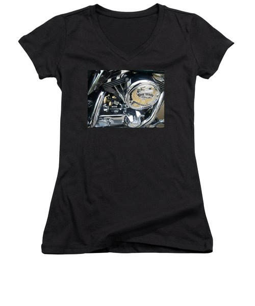 Harley Live To Ride Women's V-Neck (Athletic Fit)