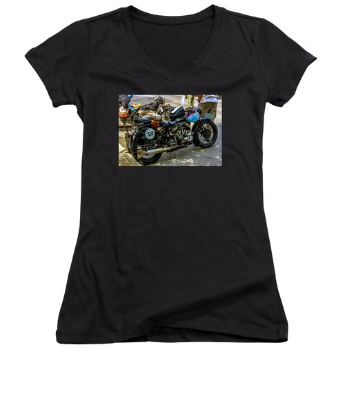 Harleys And Indians Women's V-Neck