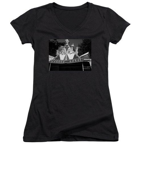 Women's V-Neck T-Shirt (Junior Cut) featuring the photograph Haunted House by Michael Krek