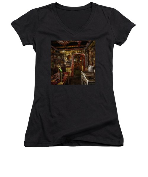 Haunted Kitchen Women's V-Neck