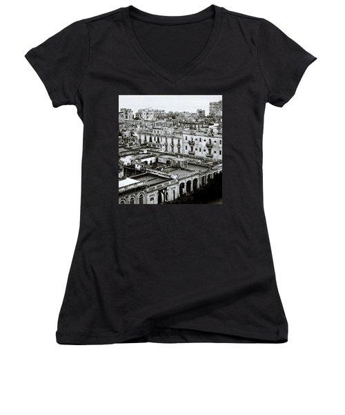 Havana City Women's V-Neck T-Shirt (Junior Cut) by Shaun Higson