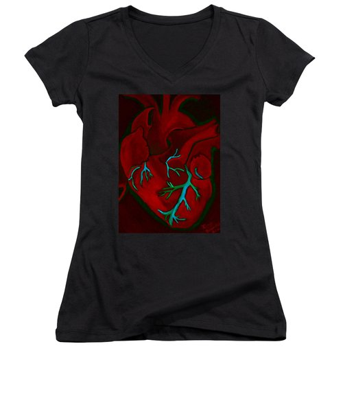 Have A Heart Light 2 Dark Version Women's V-Neck (Athletic Fit)