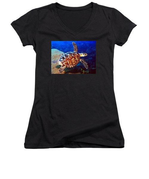 Hawksbill Women's V-Neck T-Shirt