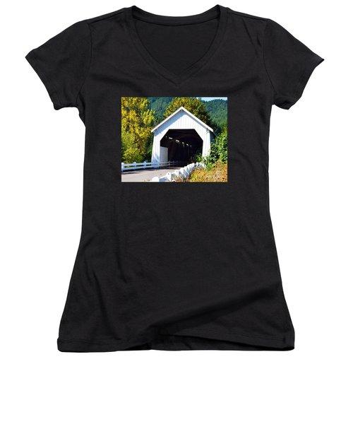 Hayden Covered Bridge Women's V-Neck T-Shirt