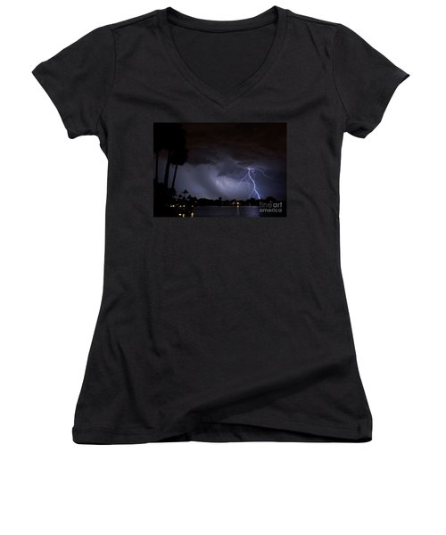 Head In The Clouds Women's V-Neck (Athletic Fit)